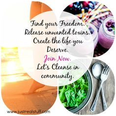 Summer is a perfect time to unload toxins and get your energy and vitality back! Join us for an 11-day WHOLE FOOD HOLISTIC DETOX with four days preparation starting July 21. www.justrealstuff.com Totally customizable for vegans or meat-eaters. No pills or supplements required! We'll uncover foods that don't work for you and find what does. www.justrealstuff.com