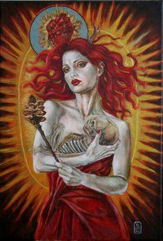 The Empress Tarot PRINT by Karyn Crisis by KarynCrisis on Etsy, $30.00