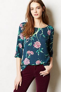 Eira Top from Anthropologie -- I love tops like this that you can just throw on and look polished in while still being really comfy