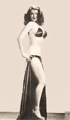 black burlesque dancers   Black and White vintage Promo of Betty standing sideways in her black ...