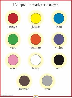 French Colors Poster - Italian, French and Spanish Language Teaching Posters | Second Story Press