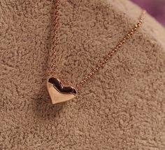 Leyu Fashion Rose Gold Überzogen Besonderes Einfach Design Kleine Herz Form Hängende Halsketten für Damen - http://schmuckhaus.online/leyu/rose-gold-leyu-fashion-rose-gold-ueberzogen-herz
