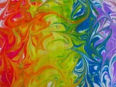 Shaving cream marbled rainbow from the chocolate muffin tree