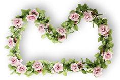 BASIL Blumengirlande rosa FLOWER GARLAND ca.130 cm  Rosengirlande (014.025) de.picclick.com