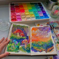 Art Journal Inspiration, Art Inspo, Art Diary, Arte Sketchbook, Sketchbook Ideas, Hippie Art, Easy Paintings, Art Drawings Sketches, Cute Art