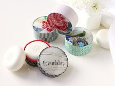 Scented dome box soaps from fringe studio. #pattern #cosmetics #packaging