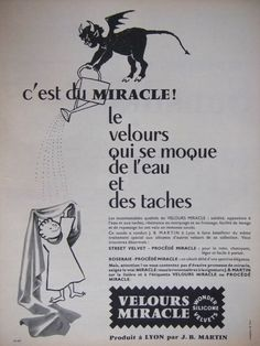 ADVERTISING 1957 VELVET MIRACLE MISSING WATER JB MARTIN - ADVERTISING | eBay