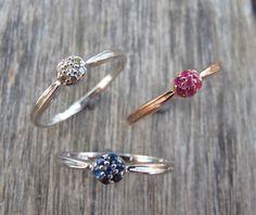 Blue Sapphire Ring, Ruby Rings, Diamond Rings, Rose Gold Rings, Birthstone Rings, Gemstone Rings, Stone Rings, Silver Rings, Rings by Belesas on Etsy https://www.etsy.com/listing/178792499/blue-sapphire-ring-ruby-rings-diamond