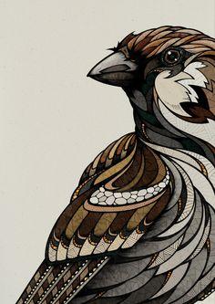 Berlin Sparrow Art Print by Andreas Preis