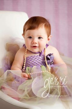 Baby Tulle Party Dress Purple