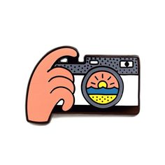 Sunset Snap Pin by Luke Day from Valley Cruise Press