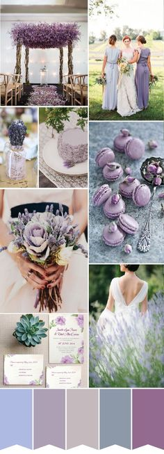 Shades of lavender purple chic rustic wedding color ideas and wedding invitations #weddingcolors2015