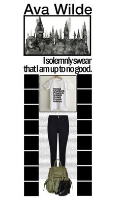 """""""Ava Wilde (22)"""" by irresistible-livingdeadgirl ❤ liked on Polyvore featuring Oris, Giorgio Armani, Topshop, harrypotter, hogwarts, topshop and avawilde"""