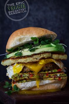 The Epic Veggie Sandwich by bakersroyale #Sandwich #Breakfast #Veggie