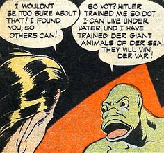 Now that is one fugly Nazi! (From 'Headline Comics' #11)