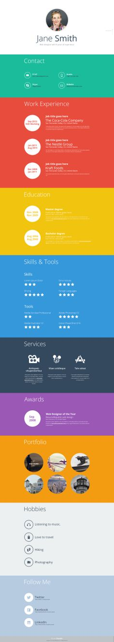Perfexy Premium online resume template - Resume Republic - different resume templates