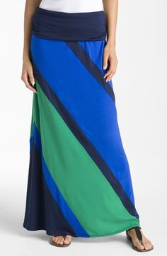 Olivia Moon Colorblock Maxi Skirt