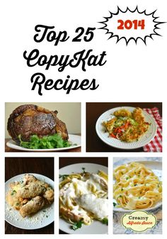 Check out what the most popular recipes on CopyKat.com were in 2014. Are you favorites here? I bet there are some Olive Garden classics that can be found here.