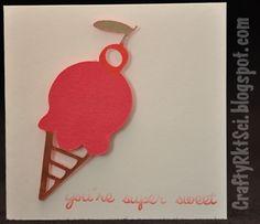 Ice cream cone mini card.