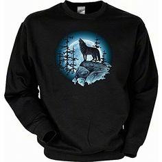 Sweatshirt - Wildlife - Wolf und Voll Mond - USA Pullover mit Motiv als Geschenk für Tier Fans sabuy http://www.amazon.de/dp/B00FFC8Q1S/ref=cm_sw_r_pi_dp_KAkvvb0A44535