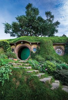 Bilbo Baggins' house on the Hobbiton Movie Set, which is two hours from Auckland. Photo Credit: Mark Edward Harris