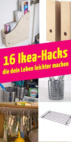 16 nützliche Ikea-Tricks, die dein Leben leichter machen The Effective Pictures We Offer You About home cleaning hacks A quality picture can tell you many things. Ikea Hacks, Diy Hacks, Diy Organizer, Diy Organization, Rope Shelves, Wooden Shelves, House Cleaning Tips, Cleaning Hacks, Libreria Billy Ikea