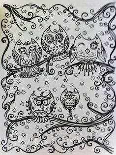 OWLS Coloring Book For You To Have Some Fun And By ChubbyMermaid 1200