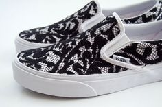 DIY Lace Slip-on Sneakers, by Kara Endres / Sprinkles in Springs