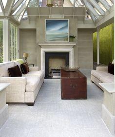 A modern conservatory living room Modern Conservatory, Glass Conservatory, Outside Bars, Glass Houses, Living Spaces, Living Room, Outside Living, Sunrooms, Modern Glass