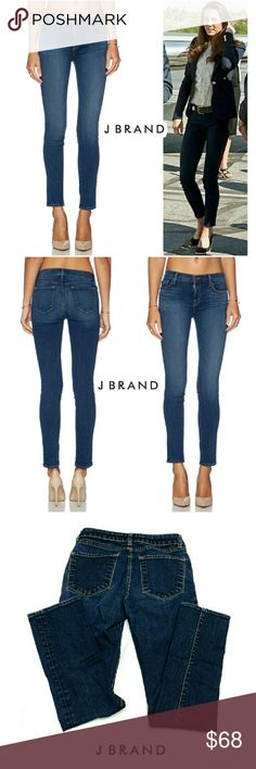 """J BRAND SCARLETT CIGARETTE  INK JEANS J BRAND SCARLETT CIGARETTE INK JEANS  Pre-Loved/ Image for Similarity  RN# 117965 Style 1014 SZ 27 98% Cotton  2% Spandex These are Anthropologie Name Brand Jean's- J BRAND Very Comfortable with Some Fading & Whiskering Approx Meas;    *Waist   13 3/4""""    *Inseam   31""""    *Rise   8"""" Pls See All Pics. Ask ? If Not Sure J Brand Jeans Skinny"""