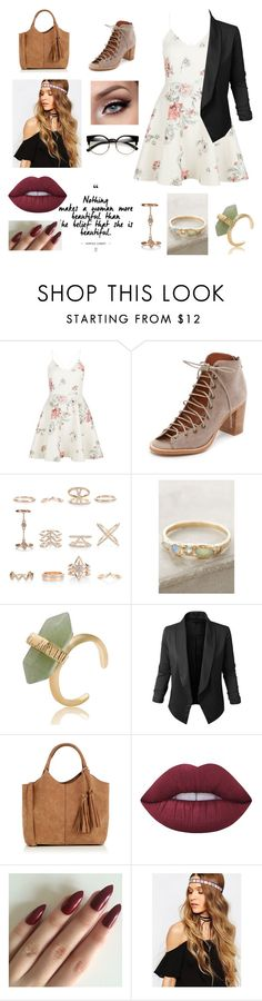 """""""Untitled #87"""" by heresnana on Polyvore featuring New Look, Jeffrey Campbell, Misa, LE3NO, Oasis and Lime Crime"""