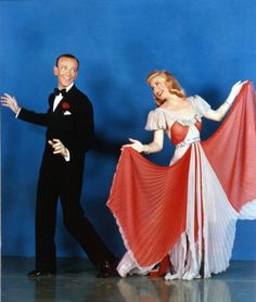 Fred Astaire and Ginger Rogers. It's wonderful seeing them in color like this!