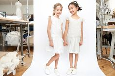 Parisian bridal designer Laure de Sagazan has partnered with French children's brand Jacadi to release a capsule collection of flower girl dresses.
