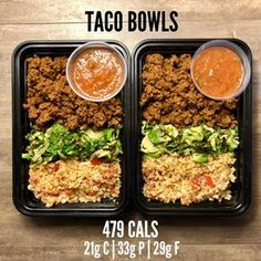 Weight Loss vs Weight Gain with Taco Bowls and Salsa Roja. Meal Prep is not only… Weight Loss vs Weight Gain with Taco Bowls and Salsa Roja. Meal Prep is not only used for improving – Health and Nutrition Lunch Meal Prep, Healthy Meal Prep, Healthy Snacks, Healthy Eating, Keto Meal, Weight Gain Meals, Losing Weight, Keto Recipes, Weight Gain