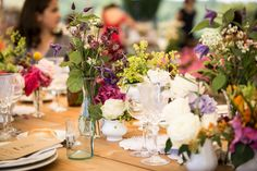Image by Adriana Chechi - Fabulously rustic wildflowers in Italy.  See the wedding in full here