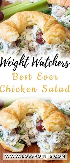 Best Ever Chicken Salad - Loss Points Weight Watchers Lunches, Weight Watchers Diet, Weight Watcher Dinners, Weight Watchers Chicken, Ww Recipes, Skinny Recipes, Cooking Recipes, Healthy Recipes, Healthy Dinners