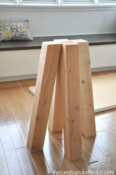 raw wood pedestal ta