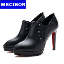 Women shoes Genuine leather pointed toe High heels(10cm)Woman Fashion rivets Slip on Thin Heels Red bottoms Pumps Dress Shoes     Tag a friend who would love this!     FREE Shipping Worldwide     Buy one here---> http://ebonyemporium.com/products/women-shoes-genuine-leather-pointed-toe-high-heels10cmwoman-fashion-rivets-slip-on-thin-heels-red-bottoms-pumps-dress-shoes/    #mini_dress