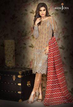 Check Out Asim Jofa Mysorie Chiffon Collection Replica at Master Replica Pakistan Call/WhatsApp: New Pakistani Dresses, Pakistani Bridal Wear, Pakistani Dress Design, Desi Clothes, Asian Clothes, Pakistan Fashion, Shalwar Kameez, Indian Designer Wear, Indian Outfits