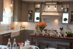 grey kitchen   The Fat Hydrangea: Parade of Homes - House #2