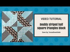 """Quick and easy """"Doubly striped Half Square Triangle block"""" (Hidden wells) – Sewn Up Quilting Tips, Quilting Tutorials, Machine Quilting, Quilting Projects, Strip Quilts, Easy Quilts, Quilt Blocks, Easy Quilt Patterns, Pattern Blocks"""