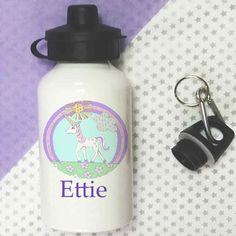 Personalised Water bottle,School Lunch Bottle,Girls Bottle,I believe in Unicorns Kids Bottle, Bottle Bag, Personalized Water Bottles, Personalized Gifts, School Water Bottles, Bottles For Sale, Selling On Pinterest, School Lunch, Girl Gifts