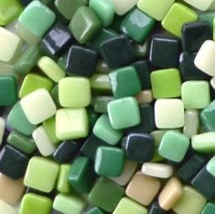 8mm Greens Assortment - Gloss - Mosaic Glass Tile Includes: 3, 11, 19, 37, and 55