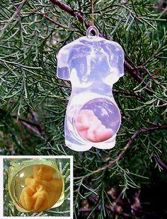 Pregnant Woman Christmas Tree Ornament  - really?  kinda gross.