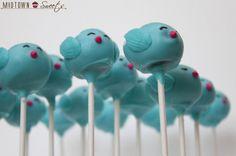 Blue Bird cake pop
