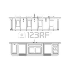 Modern Kitchen Elevation kitchen cabinet design drawing kitchen elevation line drawing