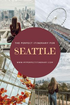 3 Day Seattle Itinerary including Pikes Place Market Seattle Gum Wall Kerry Park Space Needle Where to eat in Seattle Best coffee in Seattle and Washington State, Washington Things To Do, Seattle Washington, Everett Washington, Washington Wizards, Tahiti, Bora Bora, Usa Roadtrip, Travel Usa