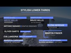 Stylish Lower Thirds | After Effects template