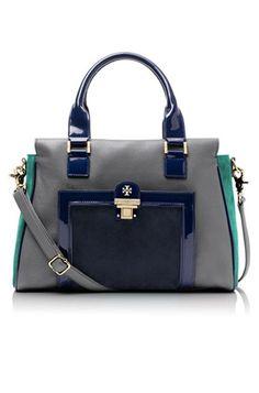 14 Work Bags: Tory Burch Rachel Satchel. #Stylish365
