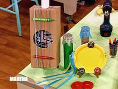 Barry Watson of What About Brian, makes perfect-for-children muscial instruments out of household materials.
